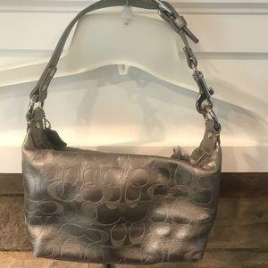 Gray vintage coach bag
